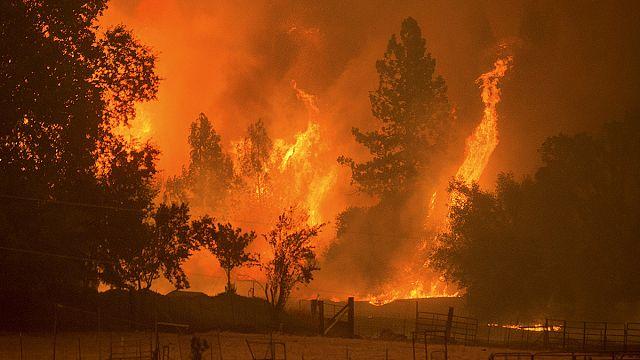 La Californie dans l'enfer des flammes