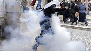 Disturbios en la Explanada de las Mezquitas de Jerusalén horas antes del inicio del Año Nuevo judío