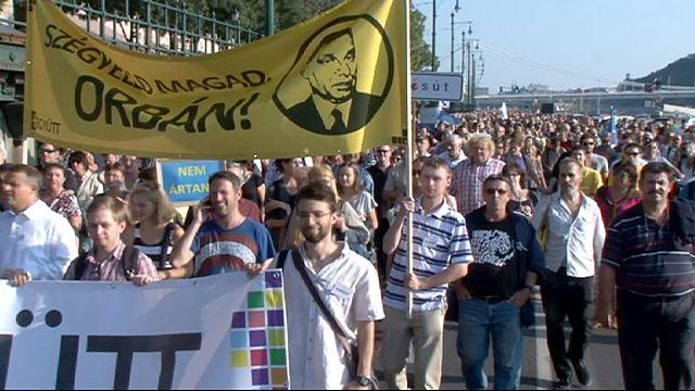 Манифестация в поддержку мигрантов в Будапеште