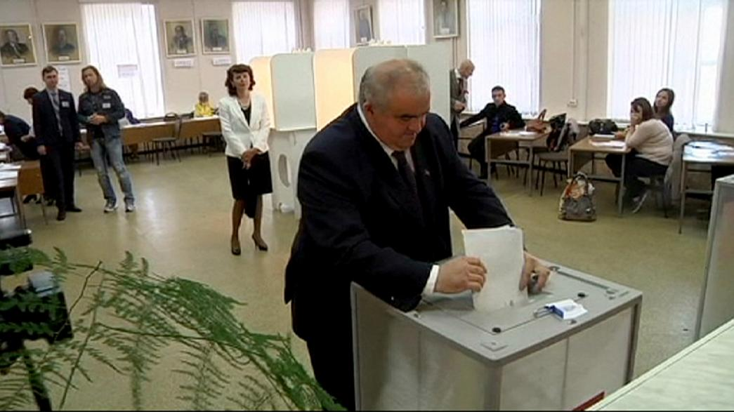 Russia votes in regional elections as opposition cries foul
