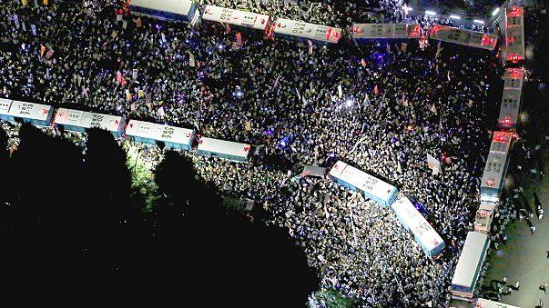 Массовые антивоенные протесты в Токио