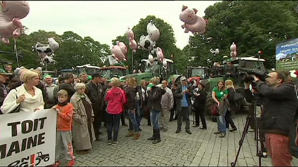 Estonian farmers protest at falling prices