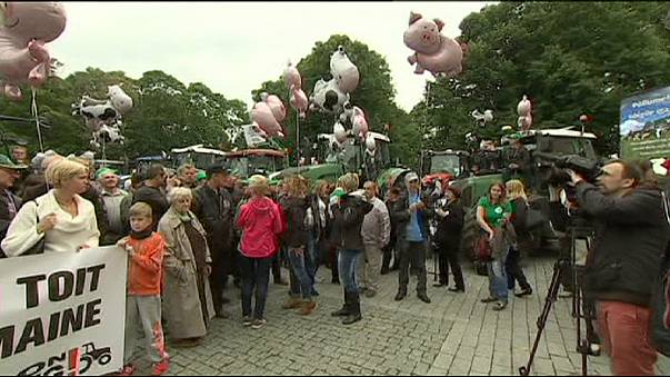 Nagyobb támogatásért tüntettek a gazdák Tallinnban