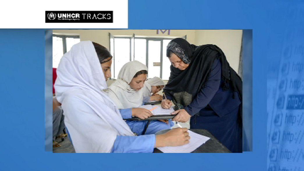 Una profesora de niñas refugiadas afganas Premio Nansen 2015