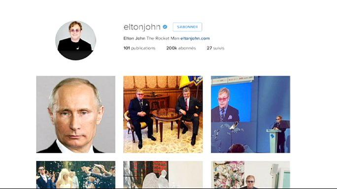 """Elton John : """"Merci président Poutine de m'avoir téléphoné pour parler des gays"""""""