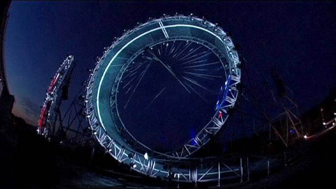 Jaguar car sets record for tallest loop the loop