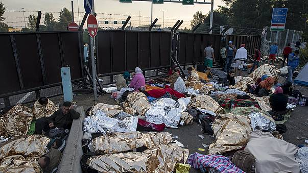 Hambrientos y exhaustos, los refugiados atrapados en Serbia piden a Hungría que abra la frontera