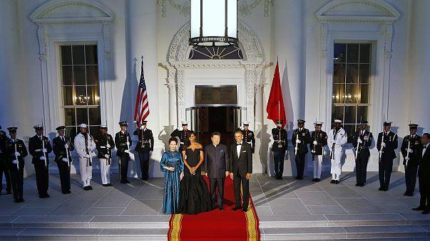 Image: Barack Obama, Xi Jinping, Peng Liyuan, Michelle Obama