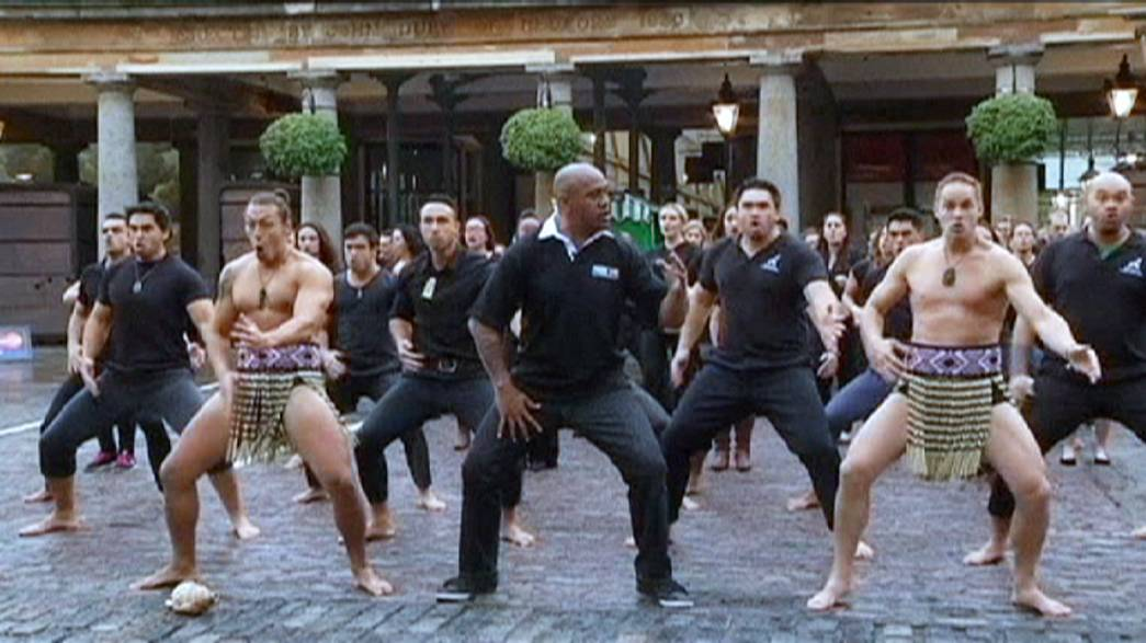 Rugby World Cup: Haka in Covent Garden