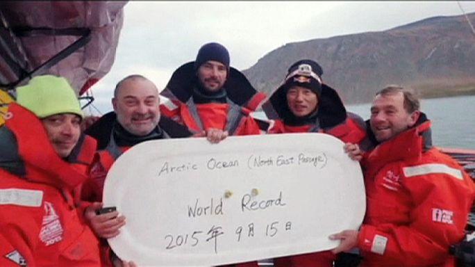 Vitorlás rekord a sarkkörön