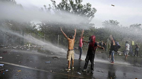 """Hungary border clashes: """"Children were crying because of the gas, people retching"""""""