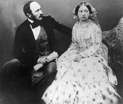 Queen Victoria and Prince Albert in 1854, five years after their marriage.