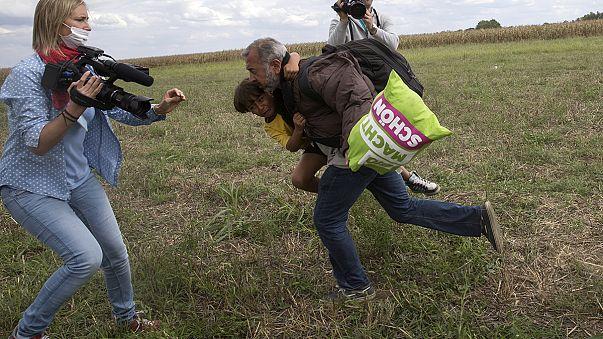 Glückliches Ende für den Syrer, der von der Kamerafrau getreten wurde