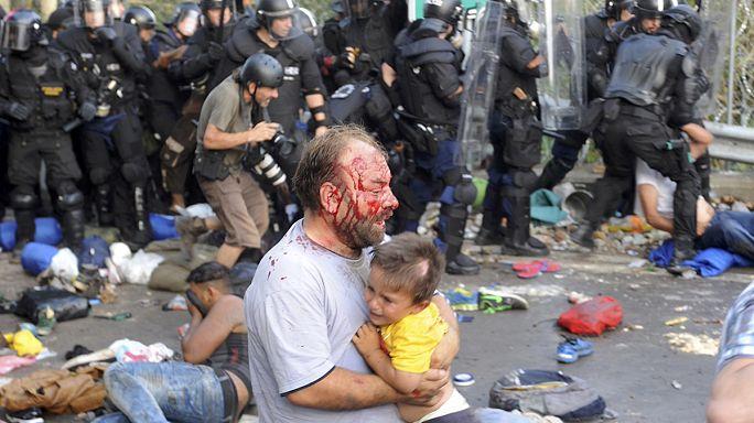 Macar polisinden Suriyeli mültecilere sert müdahale