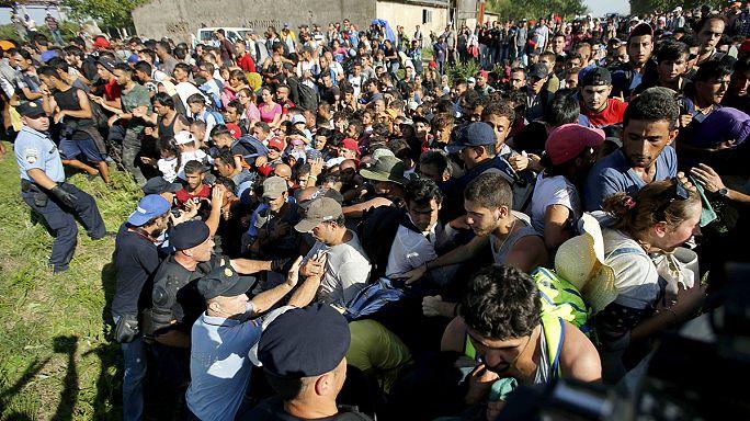 Беженцы прорывают полицейские заслоны на хорватской границе