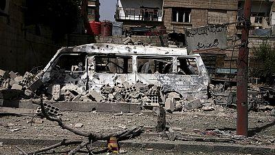 Imágenes amateur muestran el resultado de un ataque del régimen sirio – nocomment