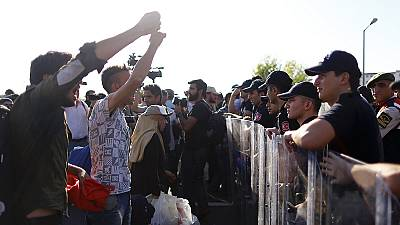 Migrants have gathered close to the Turkish town of Erdine hoping to cross into Greece
