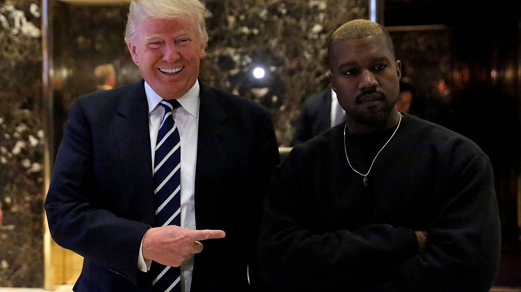 Image: President-elect Donald Trump and musician Kanye West pose for media