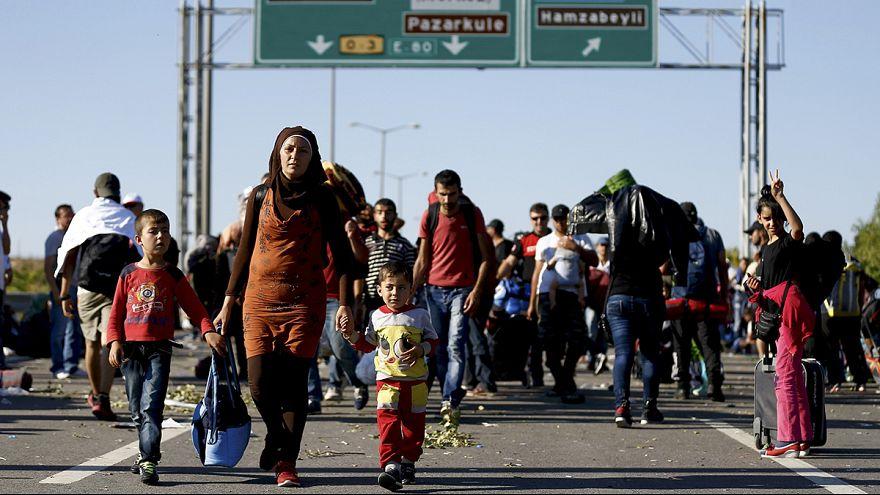 A Edirne (Turquie), deux mille réfugiés, surtout syriens, attendent de pouvoir passer en Grèce