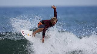Moore and Fanning claim WSL titles at Trestles Beach