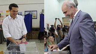 Yunanistan erken genel seçimlerinde liderler oylarını kullandı