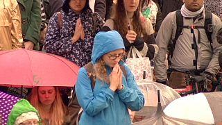 Массовая медитация в Лондоне в Международный день мира