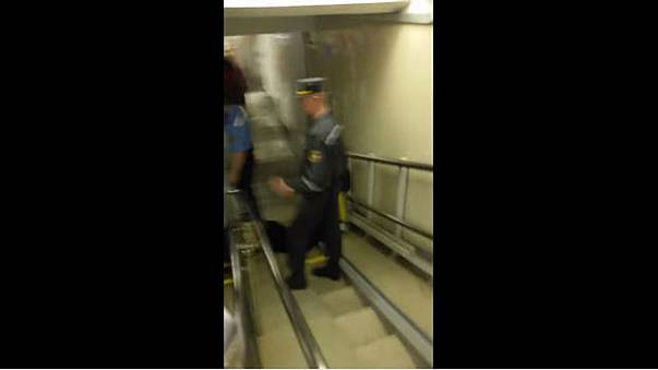 Minsk police drag blind man down stairs