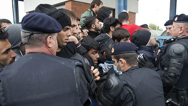 Мигранты в Хорватии подрались с полицейскими