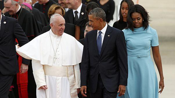 Megérkezett Washingtonba Ferenc pápa