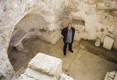 Moni Sharma, 55, caretaker Orthodox gardens on Mt. Zion in Jerusalem.