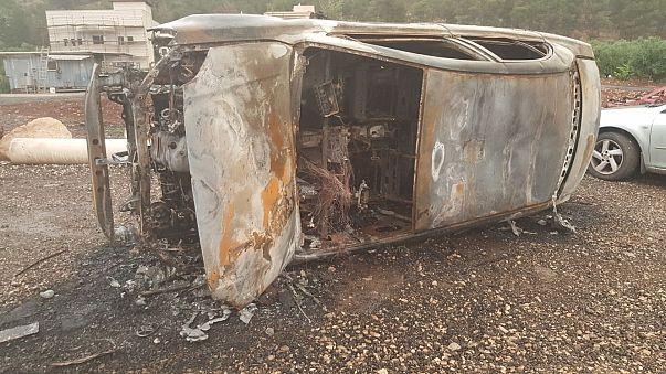 Image: Burned car