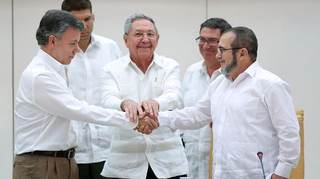 Nemcsak a pápa, a kolumbiai elnök is történelmet írt Havannában