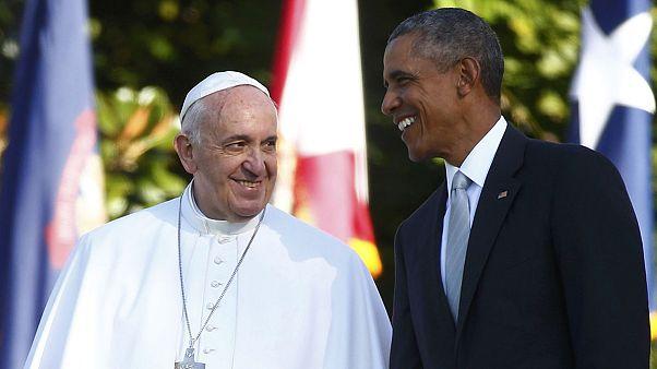 دیدار پاپ فرانچسکو با باراک اوباما