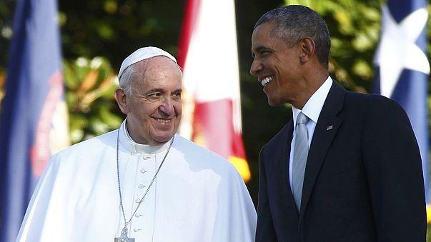 Ferenc pápa és Obama elnök találkozója