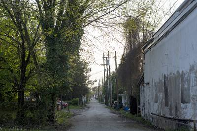 An alley in an area known for prostitution in Huntington.