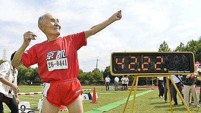 """El """"Usain Bolt"""" centenario bate un nuevo récord"""