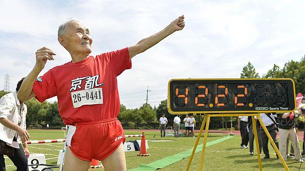 105 éves sprinter - így nem rekord, úgy igen