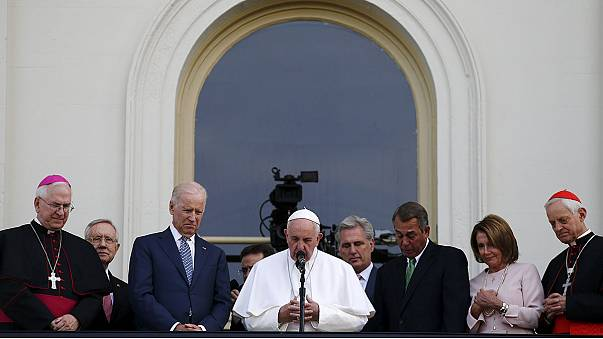 Pope Francis prays for the victims of the Hajj tragedy