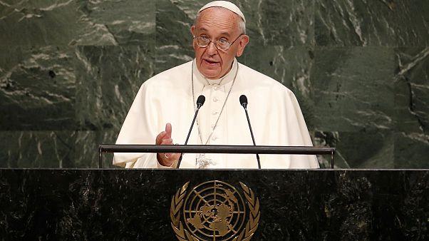 البابا يرحب بالاتفاق النووي الإيراني في كلمته أمام الأمم المتحدة