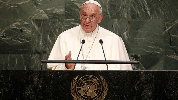 """""""Existe un derecho al ambiente"""", ha dicho el papa Francisco en la ONU"""
