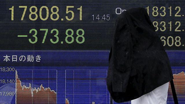 Negatív infláció Japánban