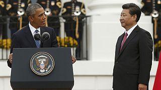 Katonai pompával fogadták a kínai elnököt Washingtonban