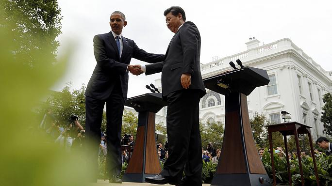 'Candid and productive' Obama and Mr Xi meet at the White House