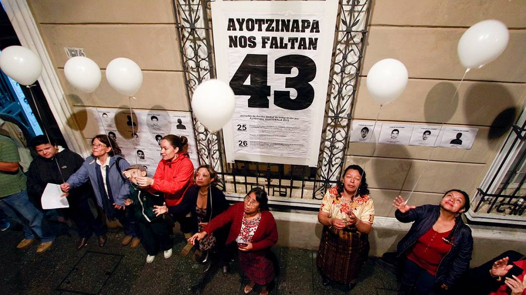 Mexico: vigil marks anniversary of 43 students' disappearance