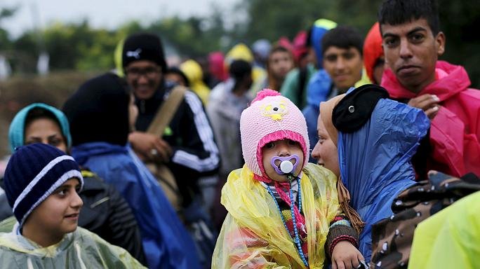 Confused and cold, more refugees cross Croatia and Hungary