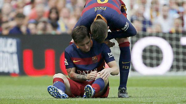 Leo Messi se lesiona y podría perderse el Clásico