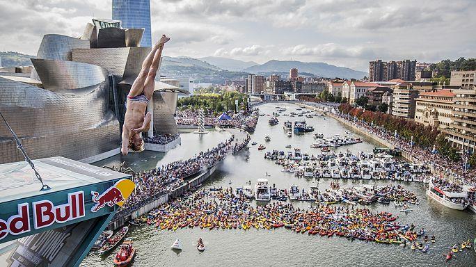 Сезон клифф-дайверов завершился в Бильбао