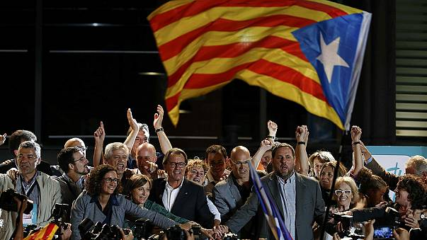 Az elszakadáspártiak ünnepelnek Barcelonában