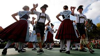 Oktoberfest: Bavarian costumes, bands and beer