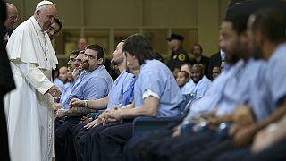 Pope Francis visits prisoners in Philadelphia